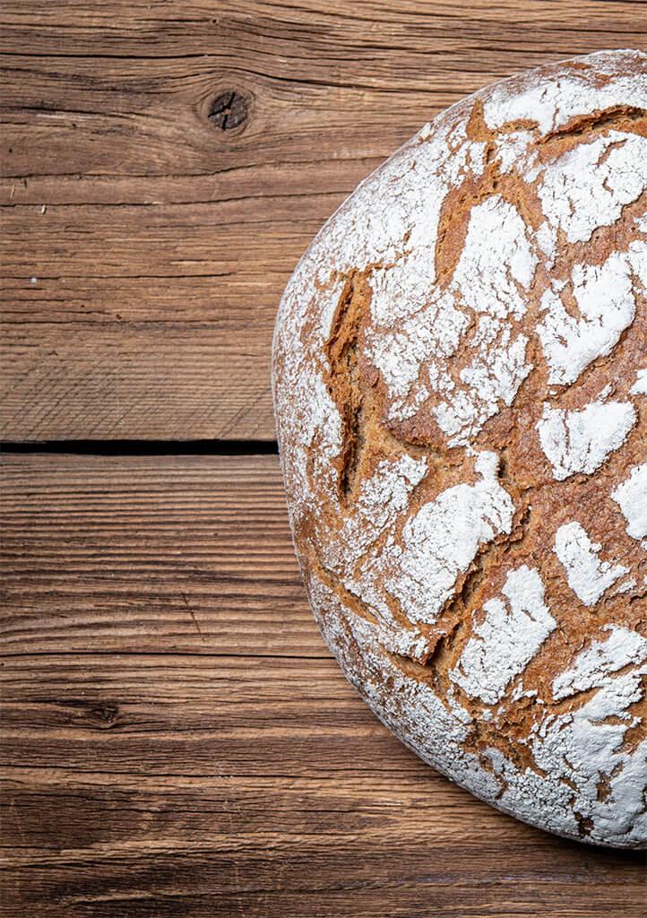 Brotlaib linke Hälfte